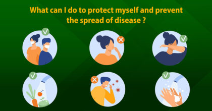 protect myself and prevent the spread of disease